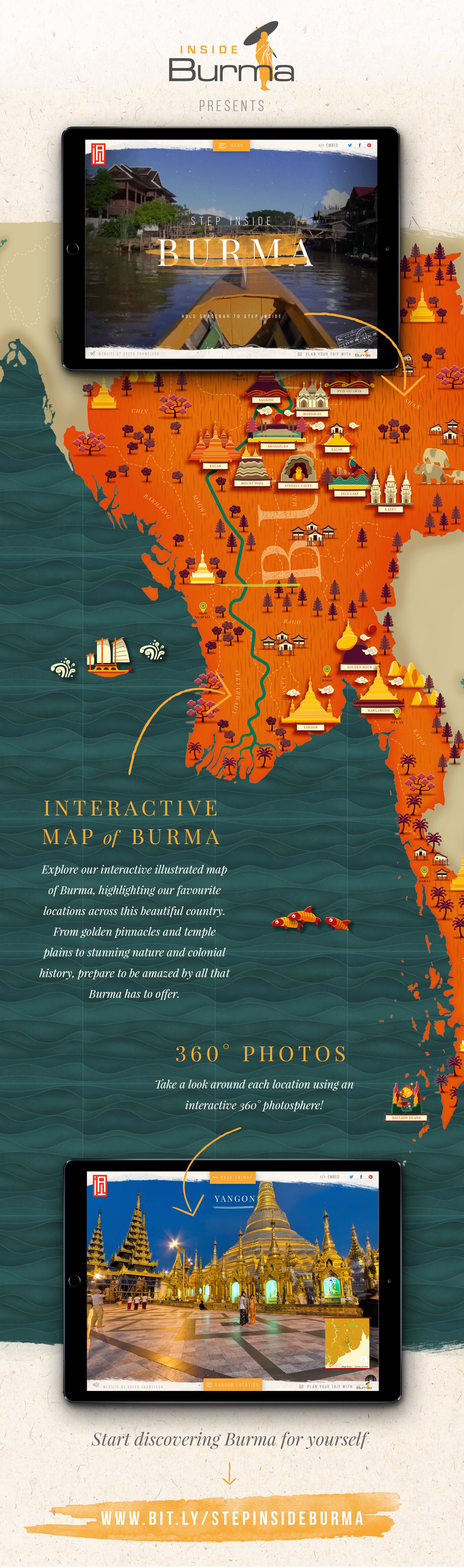 Stunning Interactive map of Myanmar